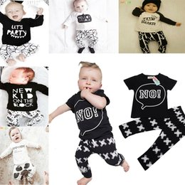 Wholesale New Baby Boys Girls Letter Sets Top T shirt Pants Kids Toddler Infant Casual Long Sleeve Suits Spring Children Outfits Clothes Gift DG16 B21