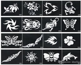 Wholesale Mixed Design Stencils for Body Painting Glitter Temporary Tattoo Design DIY Body Art A2