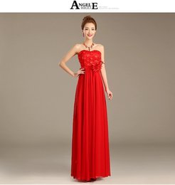 Wholesale 2015 new bride toast long evening dress red with purple suits wedding dress