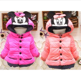 Wholesale Children Kids Girls Winter Mouse Cotton Warm Coat Padded Outwear For Years DH04