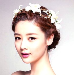 Wholesale 2015 new bride wedding accessories romantic flower garland bridal wedding bridal accesories