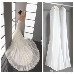 Wholesale 2015 Hot Wedding Dress Bags White Dust Bag Travel Storage Dust Covers Bridal Accessories For Bride Garment Cover Travel Storage Dust Covers