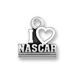 30pcs alphabet i love nascar charm hollow heart charm jewelry