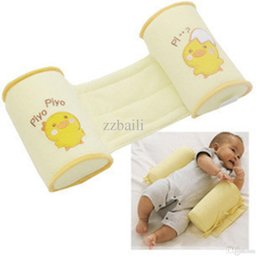 Wholesale Piece Comfortable Cotton Anti Roll Pillow Lovely Baby Toddler Safe Cartoon Sleep Head Positioner Anti rollover Baby Pillow