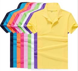Wholesale 2015 New summer style lapel collar short sleeved T shirt men s fashion casual T shirt Shirt Men L XXXL