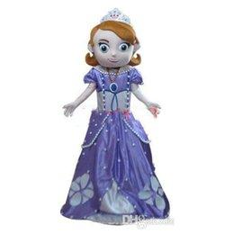 Wholesale New Design Deluxe Sofia Mascot Costume Sofia Mascot Costume Real Pictures Fans do a gift for free