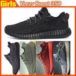 Wholesale 1 Top Quality Yeezy Running Shoes yeezy boost pirate black color Sports Shoes with Box Best Quality clone