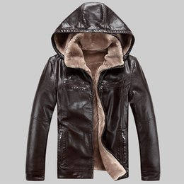 Discount Mens Winter Fur Hooded Leather Coat | 2017 Mens Winter ...