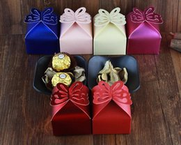Wholesale 100pcs Butterfly Candy Box DIY Folding Party Boxes Gift box Candy box chocolate boxs drop shipping