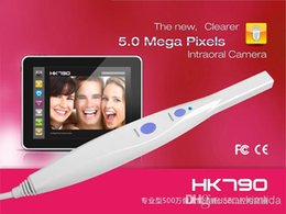 Médico Dental Intraoral Oral Camera alta resolução 5.0 Mega pixels USB 6-LED + Pedal HK790 Intra Oral Camera
