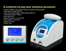Wholesale hot selling Q switched nd yag laser beauty machine tattoo removal Scar Acne removal nm nm nm