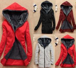 Wholesale New Winter Coat Women Hoodies Wool Zipper Fur Warm Casual Dress Hoodies Long Sweatshirts Fleece Jacket Women Cardigans
