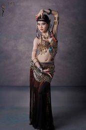 Wholesale Tribal Belly Dance Costume Stage Performance Plus Belly Dance Tribal Costumes Plus Size Clothing set Dance Wear for Belly Dance