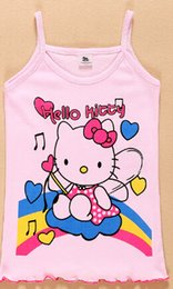 Wholesale fashion baby girls tank tops kids vests childern s cotton clothes baby clothes girls dresses