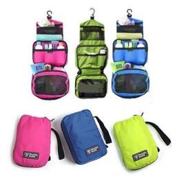 100pcs / lot frete grátis saco de lavagem companheiro de viagem - kits de Higiene Pessoal viagem de negócios saco de armazenamento de cosméticos com gancho de 4 cores