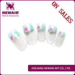 Wholesale Hot Sale UV Oil Printing French Nails Fashion Christmas Nail Art Tip Free Nail Glue ON Sales