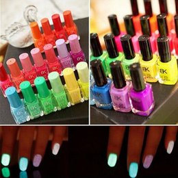 Wholesale Profession BK Nail polish glow in the dark nail polish and paint Neon Fluorescent Luminous oil matte nail polish cheap nail polish