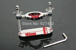 Wholesale 35mm stainless steel Scrotum Stretchers Scrotum ring metal Locking Hinged Cock Ring CBT Ball Stretchers Chrome Finish