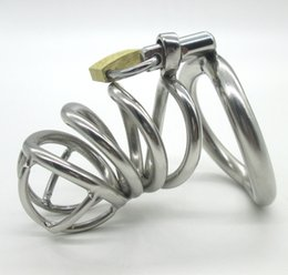 Wholesale Stainless Steel Small Male Chastity device Adult Cock Cage With arc shaped Cock Ring BDSM Sex Toys Bondage Men Chastity Belt