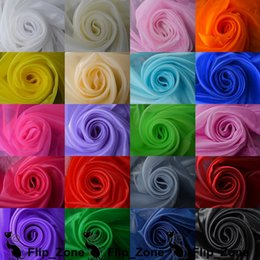 Wholesale Full Color quot m Width Organza Clothing Fabric Wedding Party Homecoming Dress Apparel Accessories Navy Blue Pink Purple White Pink Red
