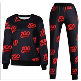 Wholesale new men women s sport jogging suits print emoji fashion tracksuits sweat shirt pants clothing set joggers