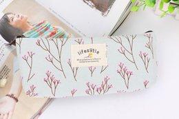 Wholesale Flower Coin Purse Travel Bags Canvas Pouch Women Storage Purse Floral Pencil Pen Case