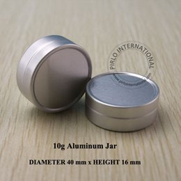 Wholesale 10g Empty Aluminium Cosmetic Containers Pot Base Lip Balm Jar Tin For Cream Ointment Hand Cream Packaging Container Box