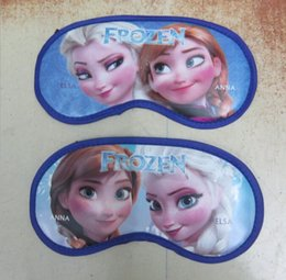 Wholesale Frozen blinder Elsa Anna Children Adult Cartoon Blindfold Light proof Sleeping Eyepatch fashion Goggles WD1386