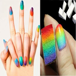 Wholesale Nail Art Equipment Simple DIY Change color Sponge Creative Nail Tools pieces NA0298
