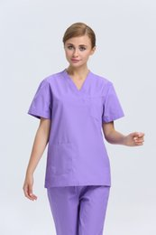 Wholesale 2015 OEM women hospital medical uniform scrub sets uniforme medico slim designs printing fabric