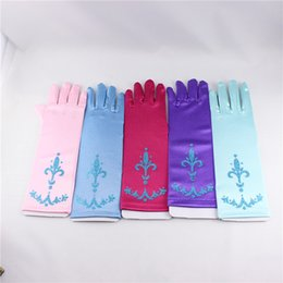 Wholesale Hot Sales Gloves Extra Long Elsa Accessory Gloves cosplay Christmas for gift girl Colors TOPA Pairs