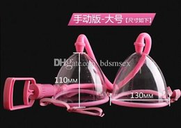 Wholesale Manual Vacuum Suction Breast Pump with Two Cup Physical Breast Massager Device Beauty Supply Sex Toys BI