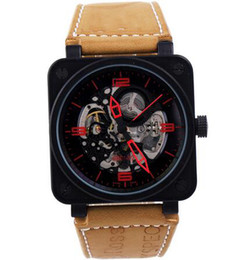 discount best skeleton watches for men 2017 best skeleton fashion leather strap stainless luxury best brands mens automatic mechanical skeleton watches for men sports wristwatches dive dropship