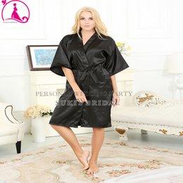 Wholesale Sexy Women Silk Satin Robe Wedding Bride Bridesmaid Lingerie Set Sleepwear Nightgown