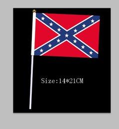 Estados UNIDOS de la Confederación de los Rebeldes de la guerra civil bandera rebelde de la mano la señal de la bandera Nacional de Poliéster Bandera Banner Impreso Bandera 14*21cm 200pcs por DHL #6847