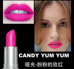 Wholesale 2015 HOT M top quality Makeup Luster Lipstick Frost Lipstick Matte Lipstick g colors lipstick with english name via dhl