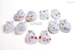 Wholesale Hot selling Cute Cotton Gloves Mitten for New Born Baby