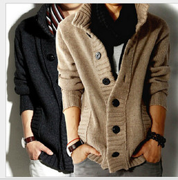 Wholesale 2014 autumn winter thicken mens sweaters casual cardigan sweaters long sleeve cardigan men warm Slim Jacket