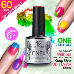 Wholesale Ebay Hot selling gel lacquer shellac One step gel polish Hot selling color popular Colors ml