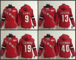 old time hockey detroit red wings 13 pavel datsyuk red hoodie 810d6a910