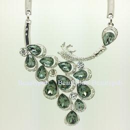 Wholesale 16K Gold Plated Crystal Jewlry Necklace Wedding Jewelry High Quality Bride Jewelry Set