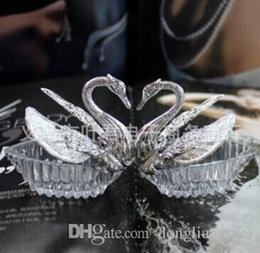 Wholesale 300pc Acrylic Silver Swan Sweet Love Wedding Gift Jewely Candy Favor Sweetbox Candy Package New Novelty Wedding Favors holders Z356