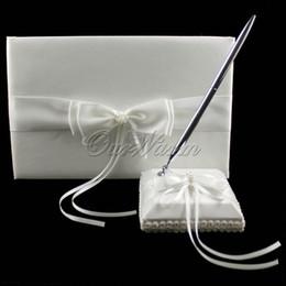 2Pcs / Set clients BookPen Set New Noble artificielle perles satin pour la cérémonie de mariage de mariage fournitures de produits -1ZZJ
