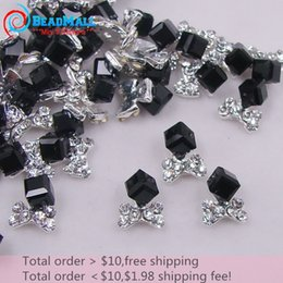 online glasses ordering evy6  Min Order New mm D Nail Art Decorations Alloy Silver Base Rhinestone Bow  amp Black Jet