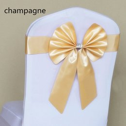 Wholesale Powdery purple yellow from a bowknot from tie back elastic chair cover wedding decorate the back of the chair