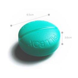 Wholesale Candy Color Compartment Travel Medicine Pill Box Pill Organizer Box For Pills Tablet Dispenser Holder pastillero