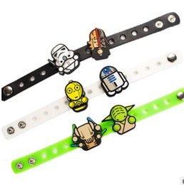 Wholesale Star Wars silicone bracelet Star War wristbands Toy doll bracelets Adjustable wrist band bracelet Children Gift F118