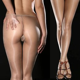 Wholesale Super Thin DY Sexy hot Gipsy Women s Invisible Seamless oil silk Shiny Glossy Sheer Stocking Nylon pantyhose hose Tights Stocking