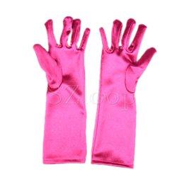 Wholesale full finger gloves elsa gloves kids gloves costume Long Blue gloves snow Queen Elsa Cartoon Party Costumes children s gloves