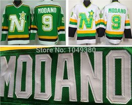 5 10 days free shipping dallas stars 9 mike modano jersey green white embroidered ccm